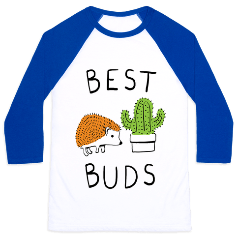 Best Buds Hedgehog Cactus Baseball Tee