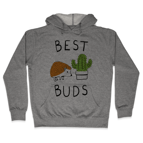 Best Buds Hedgehog Cactus Hooded Sweatshirt
