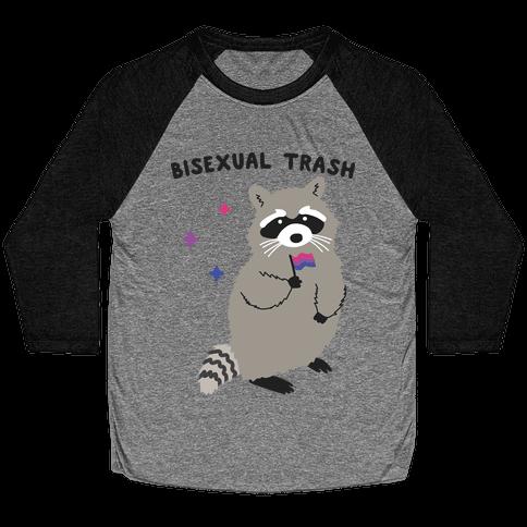 Bisexual Trash Raccoon Baseball Tee