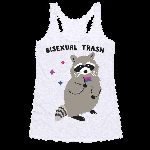 Bisexual Trash Raccoon Racerback Tank Top