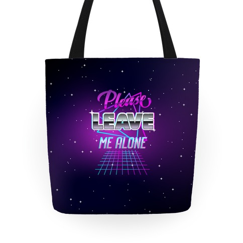 Please Leave Me Alone Retro Wave Tote