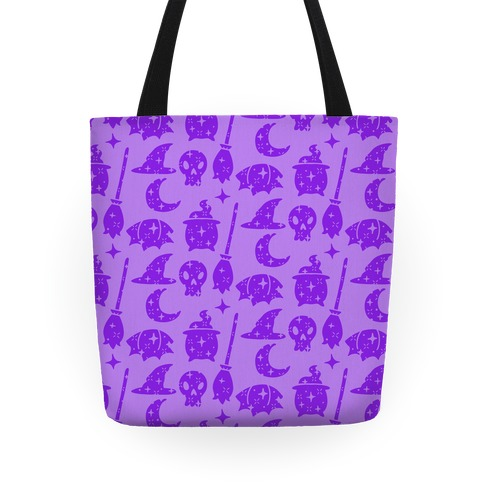 Sparkle Witch Pattern (Purple) Tote