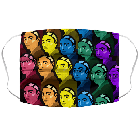 Rainbow AOC Pattern Accordion Face Mask