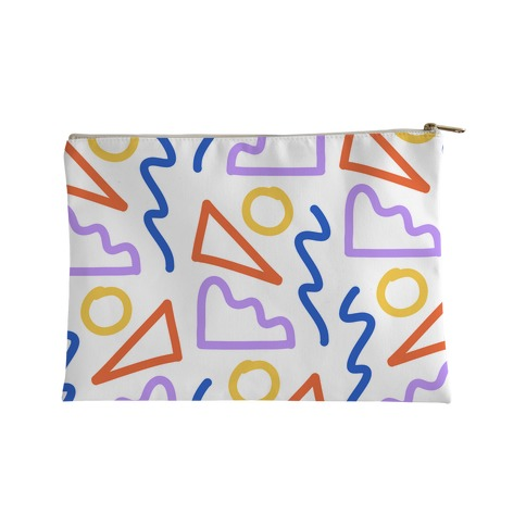 Bold Abstract Shape Outlines Accessory Bag