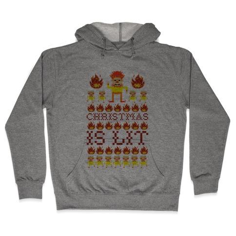Christmas Is Lit Heat Miser Hooded Sweatshirt
