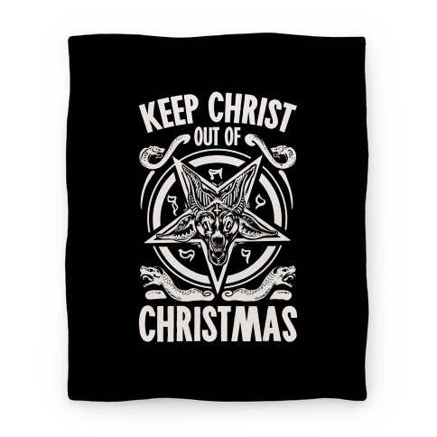Keep Christ Out of Christmas Baphomet  Blanket