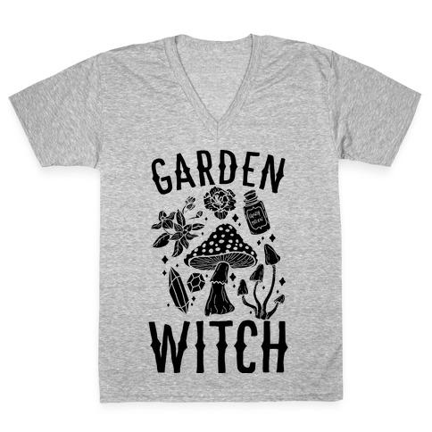 Garden Witch V-Neck Tee Shirt