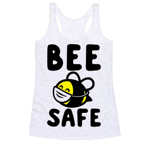 Bee Safe Racerback Tank Top