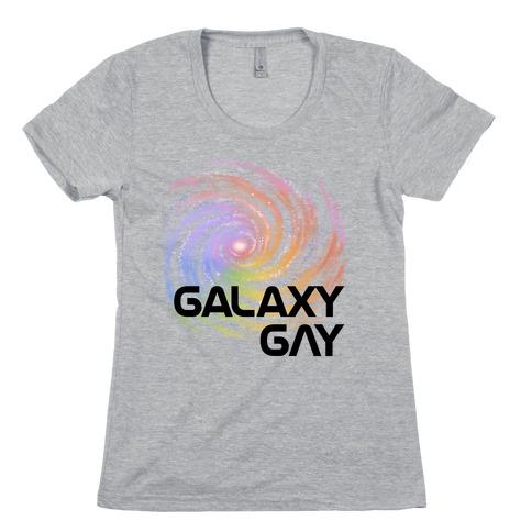 Galaxy Gay Womens T-Shirt