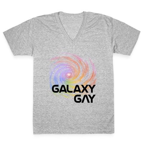 Galaxy Gay V-Neck Tee Shirt