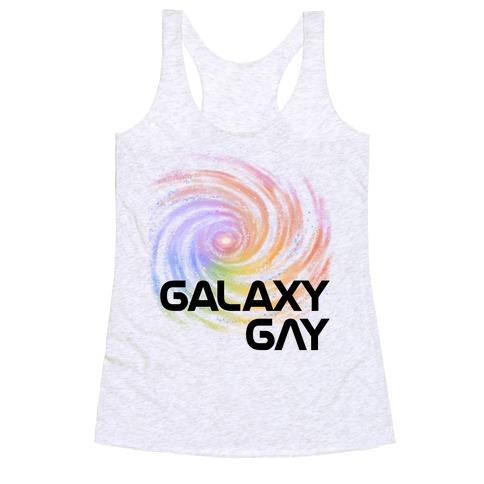 Galaxy Gay Racerback Tank Top