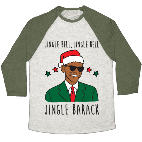 Jingle Barack Baseball Tee