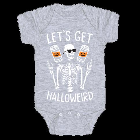 Let's Get Halloweird (White) Baby One-Piece