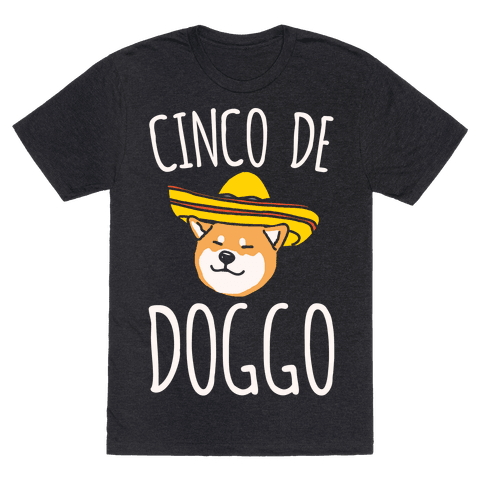 Cinco De Doggo White Print