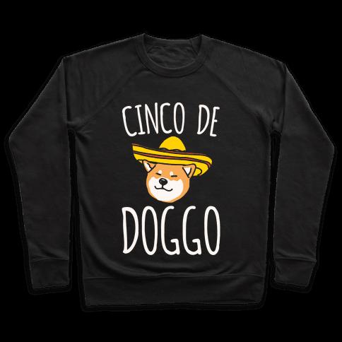 Cinco De Doggo White Print Pullover