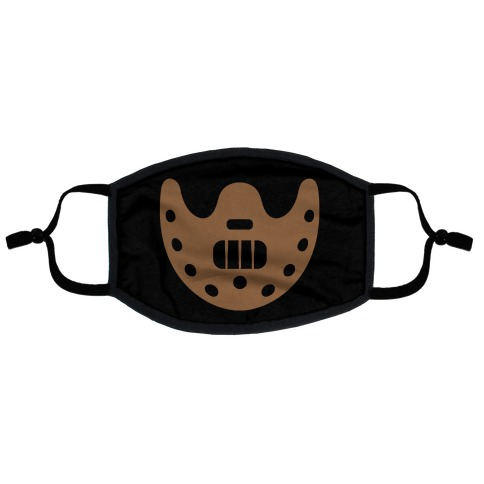 Cannibal Villain Mask Parody Flat Face Mask