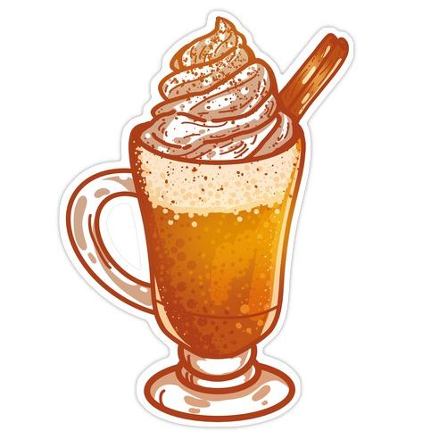 Pumpkin Spiced Latte #2 Die Cut Sticker