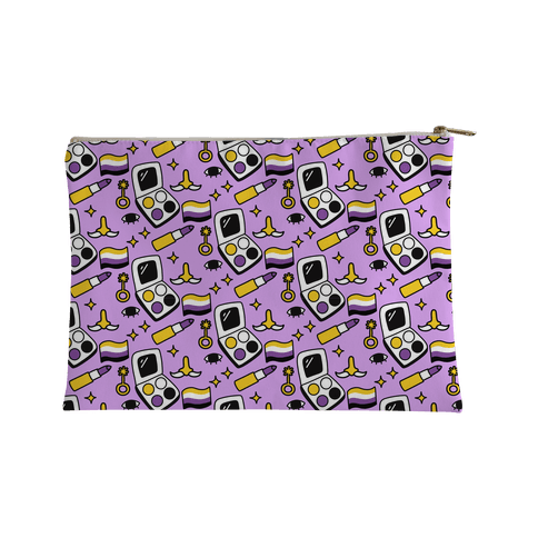 Nonbinary Makeup Pattern Accessory Bag