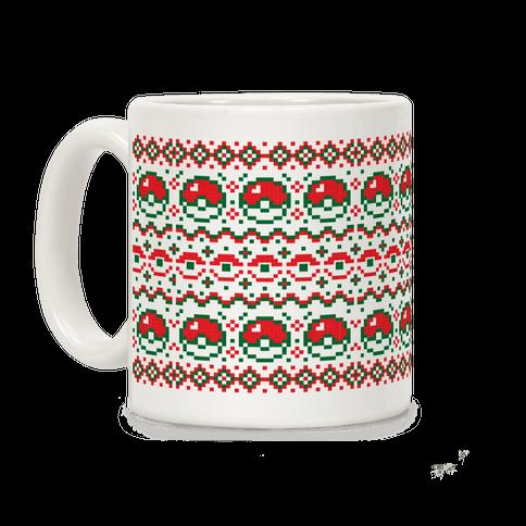 Pokéball Ugly Christmas Sweater Pattern Coffee Mug