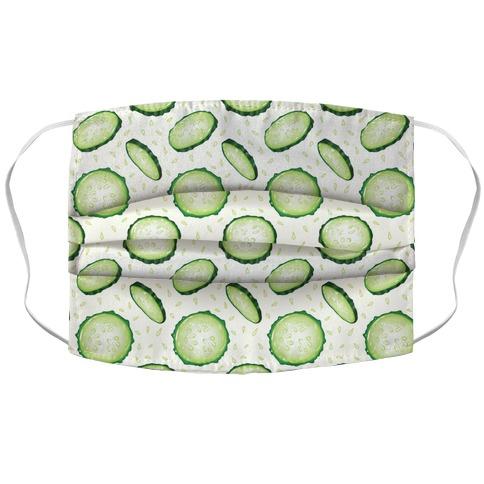 Refreshing Cucumber Pattern Accordion Face Mask
