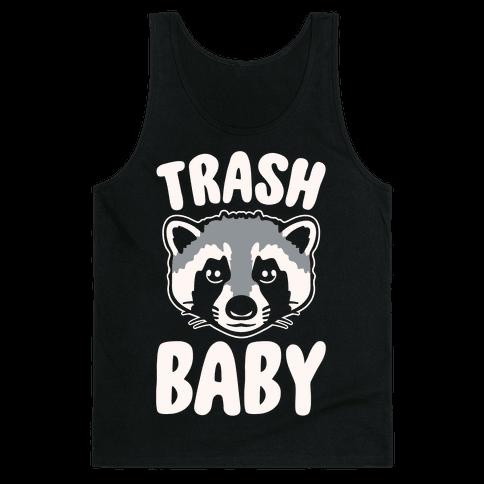 Trash Baby White Print Tank Top