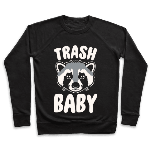 Trash Baby White Print Pullover