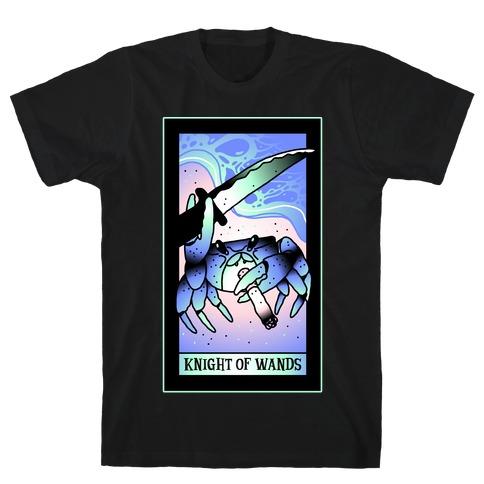 Knight Of Wands Smoking Crab Tarot T-Shirt