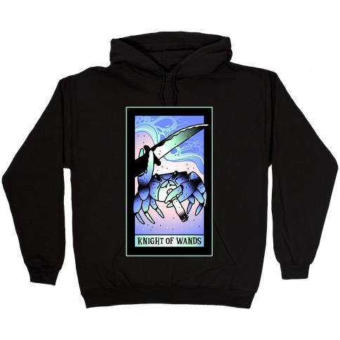 Knight Of Wands Smoking Crab Tarot Hooded Sweatshirt