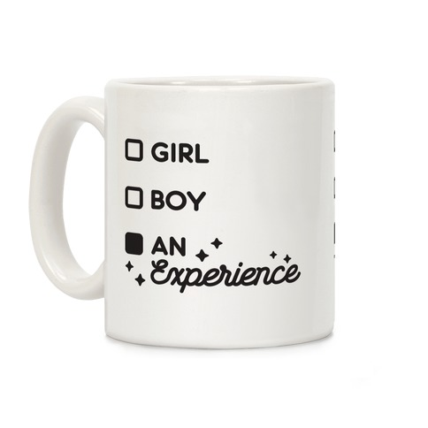Girl, Boy, An Experience Checklist Coffee Mug