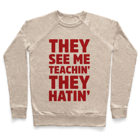 They See Me Teachin' They Hatin' Pullover