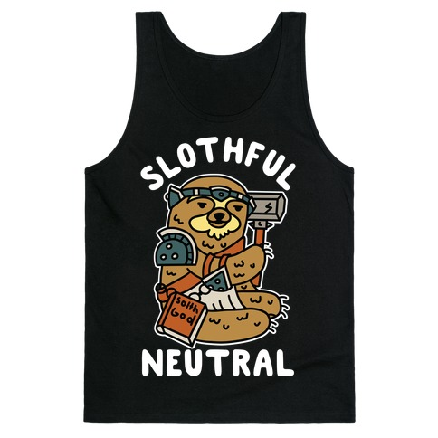 Slothful Neutral Sloth Cleric Tank Top