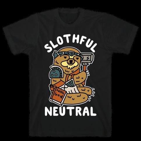 Slothful Neutral Sloth Cleric Mens T-Shirt