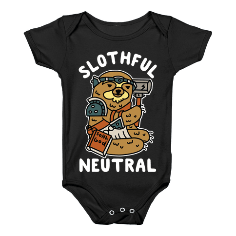 Slothful Neutral Sloth Cleric Baby Onesy