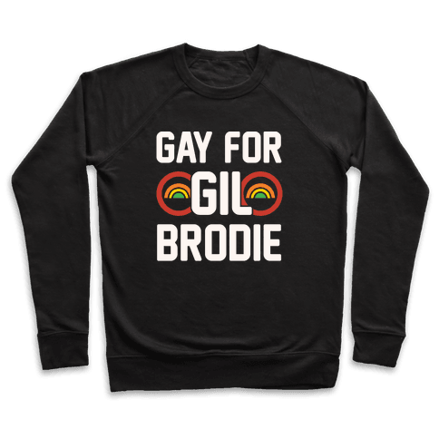 Gay For Gil Brodie White Print Pullover