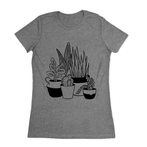 Houseplant Illustration Womens T-Shirt