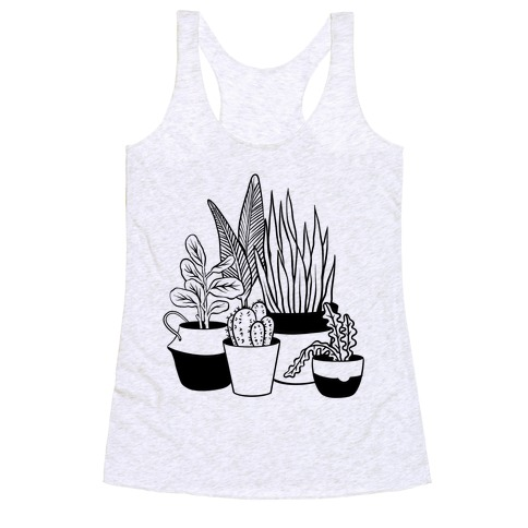 Houseplant Illustration Racerback Tank Top
