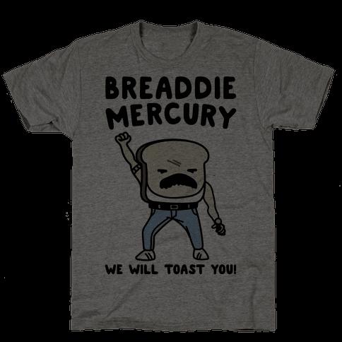 Breaddie Mercury Parody Mens T-Shirt