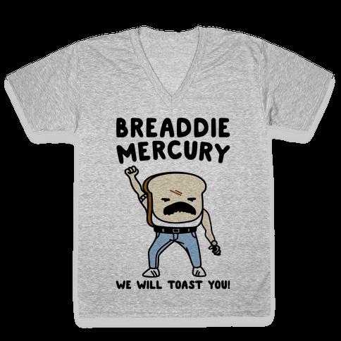 Breaddie Mercury Parody V-Neck Tee Shirt