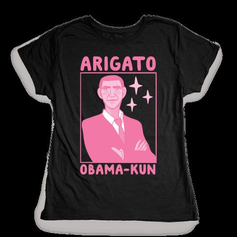 Arigato, Obama-kun Womens T-Shirt