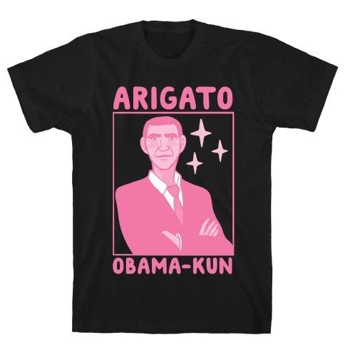 Arigato, Obama-kun Mens T-Shirt