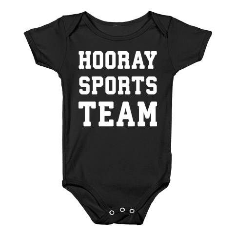 Hooray Sports Team Baby Onesy