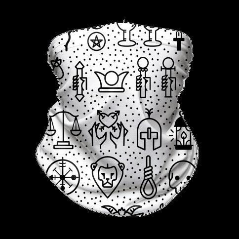 Tarot Card Icons Neck Gaiter