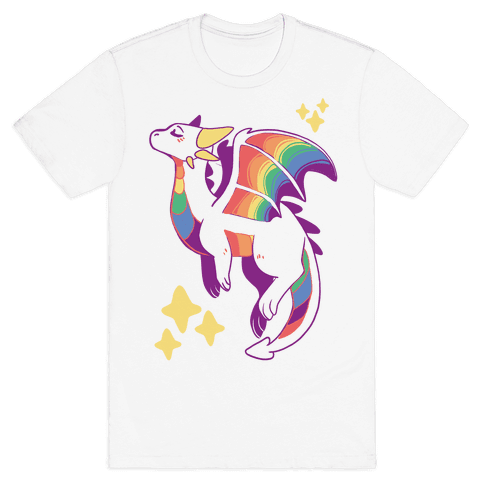 Gay Pride Dragon  Mens T-Shirt
