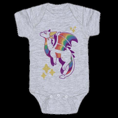 Gay Pride Dragon  Baby Onesy