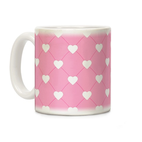 Simple Heart Pattern pink Coffee Mug