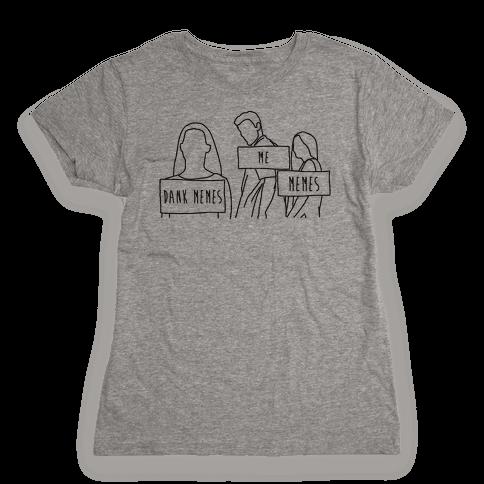 Me Vs. Memes  Womens T-Shirt