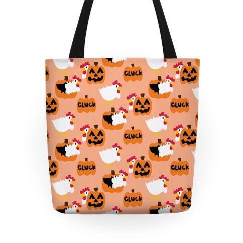 Clucky Pumpkin Pattern Tote