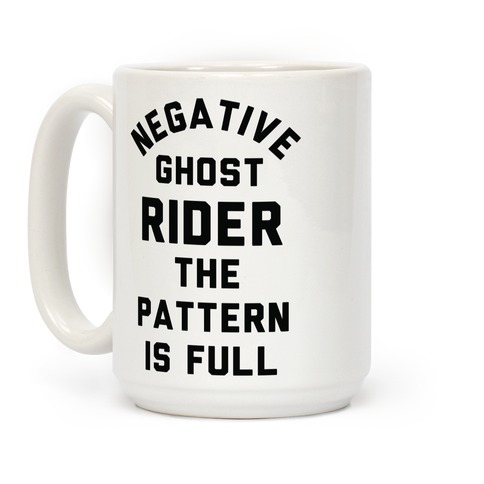 Negative Ghost Rider The Pattern is Full Coffee Mug