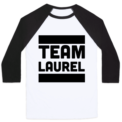 Team Laurel  Baseball Tee