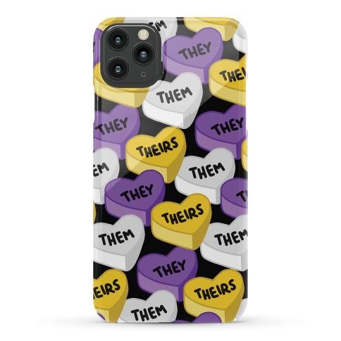 Nonbinary Pronoun Candy Hearts Phone Case